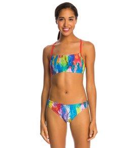 Speedo Flipturns Colorscape Printed Two Piece Bikini Swimsuit Set