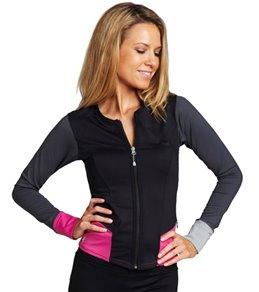 SUPmerge Women's Short Front Zip Long Sleeve Rashguard