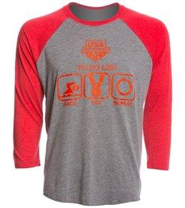 USA Swimming Unisex To Do List Raglan T-Shirt