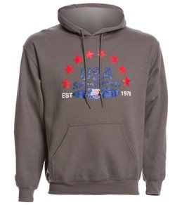 USA Swimming Unisex Distressed Pullover Hoodie