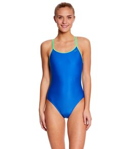 Nike SwimOutlet Exclusive Solid Spiderback Tank One Piece Swimsuit