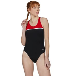 Dolfin Ocean Racing By Dolfin Color Block HP Back One Piece Swimsuit