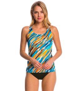 a020ffa37a Dolfin Aquashape Cascade Stripe Tankini Swimsuit Top