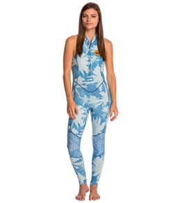 Billabong Women's 2mm Indigo Salty Jane Chest Zip Long Jane Wetsuit