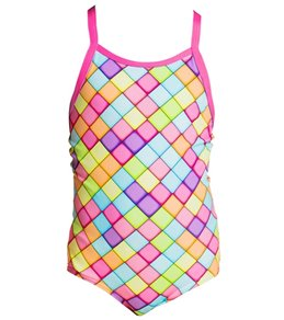 Funkita Toddler Girls' Powder Puff Printed One Piece Swimsuit