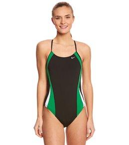 나이키 Nike Womens Color Surge Cut-Out Tank One Piece Swimsuit