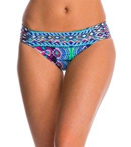 La Blanca Swimwear Global Perspective Side Shirred Hipster Bikini Bottom