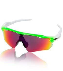 blue and white oakley sunglasses jadi  Oakley Radar EV Path Green Fade Sunglasses
