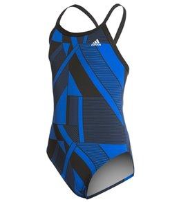 Adidas Girls' Sport DNA Vortex Back One Piece Swimsuit