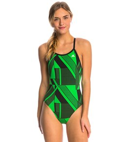 Adidas Women's Sport DNA Vortex Back One Piece Swimsuit