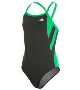 아디다스 여아(7~16) 강습용 원피스 수영복 Adidas Girls Event Splice Vortex Back One Piece Swimsuit