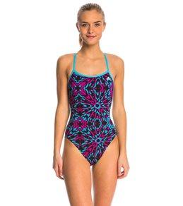 Adidas Women's Kaleidoscope Open Back One Piece Swimsuit