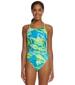 Nike Women's Tropic Cut-Out Tank One Piece Swimsuit