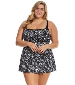 Longitude Plus Size Eyes On Me Empire Princess Swimdress