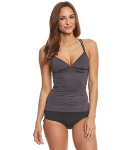 TYR Women's Solid Brooke Tankini Top