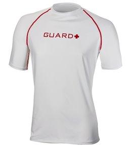 TYR Men's Lifeguard Short Sleeve Rashguard