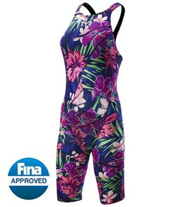 TYR Women's Limited Edition Lava Avictor Closed Back Kneeskin Tech Suit Swimsuit