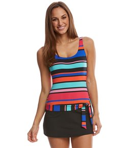 Jag Caribbean Sunset Stripe OTS Swimdress