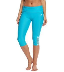 Adidas Women's Solid Roll Down Waist Capri Legging