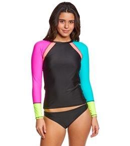 Body Glove Women's Borderline Surf's Up L/S Rashguard