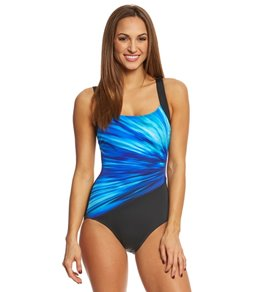 Reebok Women's Bright Horizons One Piece Swimsuit