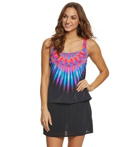 Active Spirit Women's Bird Of A Feather Tankini Top
