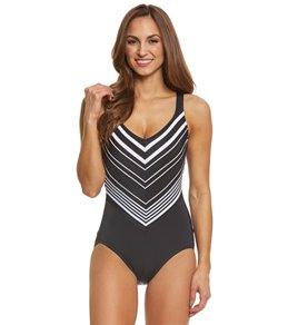 Active Spirit Women's Shore Point One Piece Swimsuit