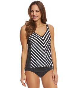 Active Spirit Women's Stripe Of Genius Tankini Top