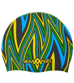 Amanzi Ignite Blue Silicone Swim Cap