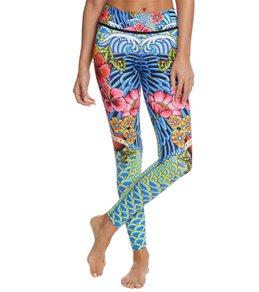 Luli Fama Women's Inked Babe Engineer Print Legging