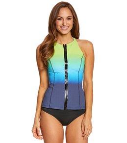 Profile Sport by Gottex Women's Ocean Reef High Neck Tankini Top