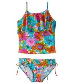 Hobie Girls' Fleur to Love Tankini Set (7-14)