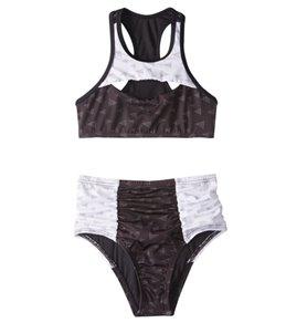 Reef Girls' Tonight's The Night High Neck Halter Bikini Set (7-14)