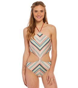d018936542 Reef Swimwear Festival Tribe High Neck One Piece Swimsuit