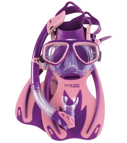 Cressi Kids' Rocks Fin, Brisa Mask, and Rio Snorkel Set