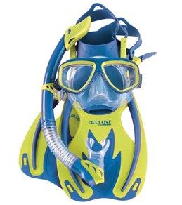 Cressi Kids' Rocks Fin, Brisa Mask, and Rio Snorkel Set