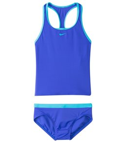 Nike Swimwear Girls' Core Solids Racerback Tankini Set (7-14)