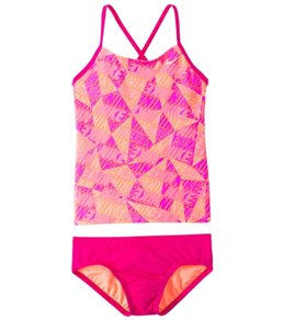 Nike Swimwear Girls' Graphic Crossback Tankini Set (7-14)