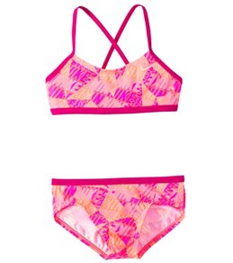 Nike Swimwear Girls' Graphic Crossback Bikini Set (7-14)