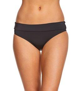 Skye Swimwear Solid Mid Waist Foldover Bikini Bottom