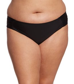 Skye Plus Size Solid Suri Hipster Bikini Bottom