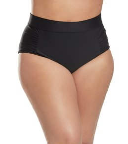 Skye Plus Size Solid Waverly High Waist Bikini Bottom