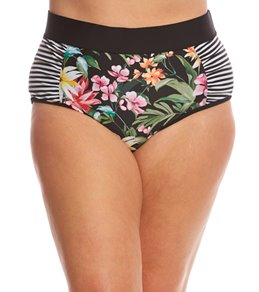 Skye Plus Size Elysian Fields Waverly High Waist Bikini Bottom