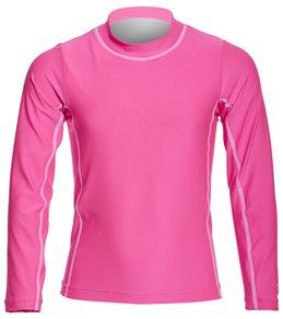 Coolibar Girls' UPF 50+ Solid Long Sleeve Surf Shirt (4-12)