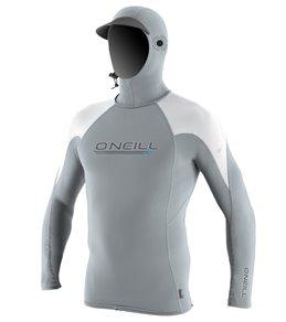 오닐 남성 후드 래쉬 가드ONeill Mens Skins OZone Long Sleeve Hooded Rashguard