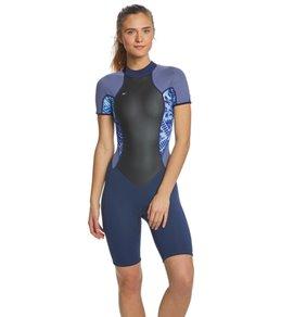 27fb1b53112ad O'Neill Women's 2/1MM Bahia Short Sleeve Springsuit Wetsuit