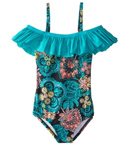 Splendid Girls' Farmhouse Floral One Piece Swimsuit (7-14)