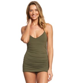Vince Camuto Riviera Solid Shirred Swimdress