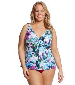 Sunsets Plus Size Monaco Forever Tankini Top (D/DD Cup)