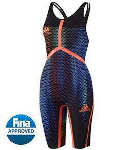 Adidas Women's Adizero XVI Breaststroke Open Back Tech Suit